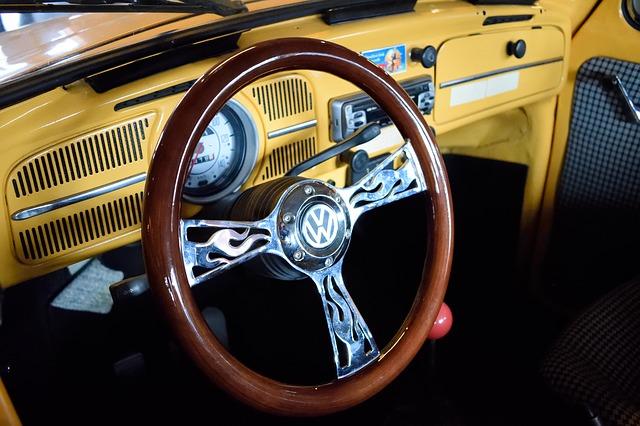 volant starého vozu